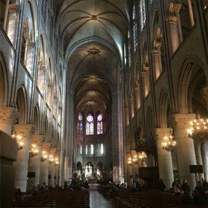Inside Notre Dame by Jennie Adams