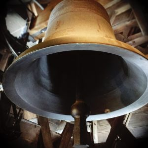 Bell in Notre Dame Bell Tower by Jennie Adams